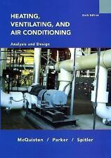 Heating, Ventilating, and Air Conditioning Analysis and Design 6E by McQuiston