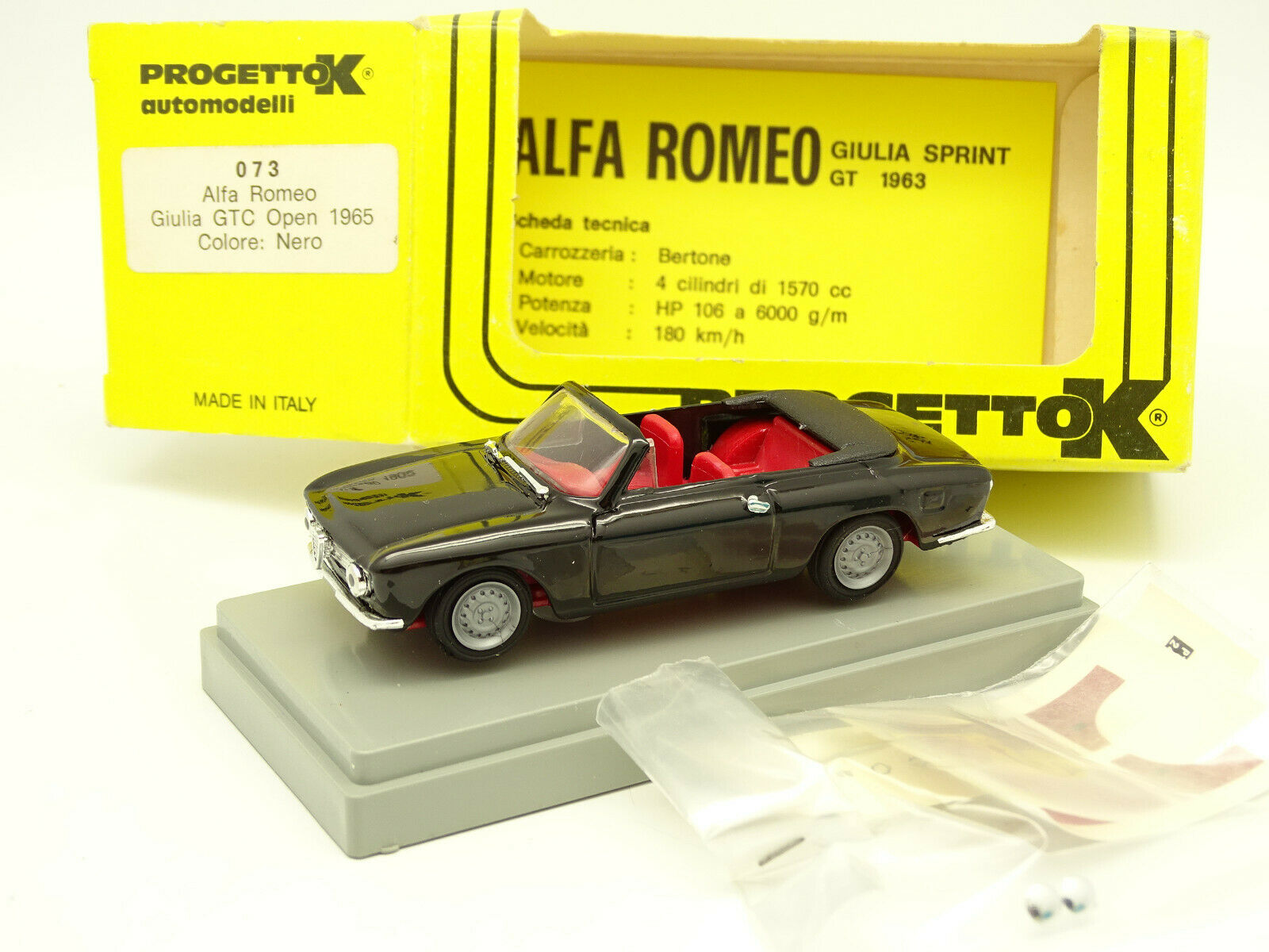 Progetto K 1 43 - Alfa Romeo Giulia GTC Open Negra 1965