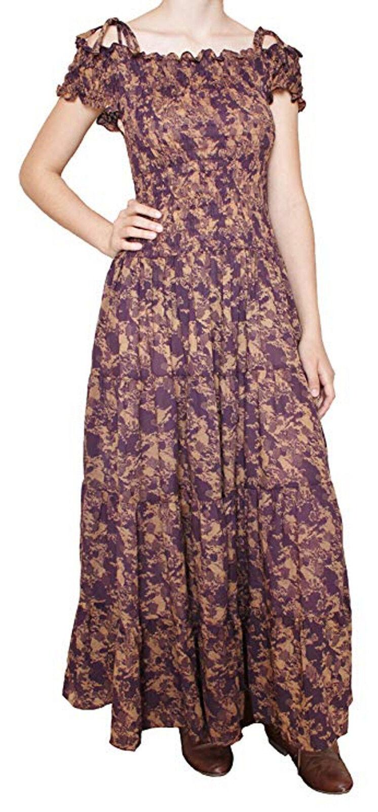 Purple Print Peasant Dress –