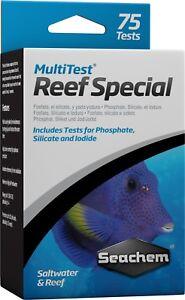 Seachem Multitest Reef Kit de test liquide spécial phosphate silicate iodé marin 116099202