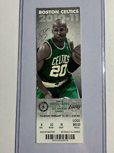 LA Lakers vs Boston Celtics 2/10/2011 Season Ticket Stub - Kobe Bryant 23 points