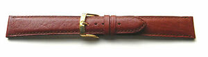 18mm-FLEURUS-RED-BROWN-GENUINE-STITCHED-PADDED-CALF-LEATHER-WATCH-BAND