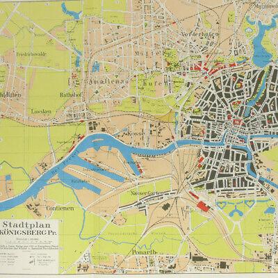 Konigsberg city map 1930s 16x23\