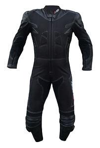 Tuta-Moto-pelle-Tessuto-Intera-Touring-Sport-Scooter-Protezioni-Rigidi-CE