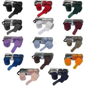 ein-4-er-Set-Fleece-Bandagen-in-vielen-Farben-waehlbar