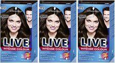 Schwarzkopf LIVE Intense 880 TENTAZIONE CIOCCOLATO Pro Permanente Colore dei Capelli Dye X3