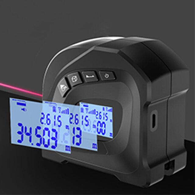 Digital 40M Laser Tape Measure Area Max&Min Volume Distance Meter Range Finder