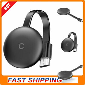 For Chromecast Wifi Wireless 4K HD Streaming Media Player Charcoal Black Office