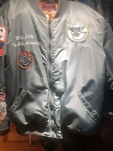 1 Flight Green 3xl Schott Nylon Ma Jacket Sage OvN08nmw