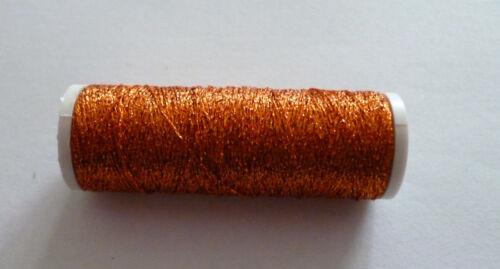 2 Rollen Metallic Garn Stickgarn Nähen Kupfer 60m Handarbeit nähen