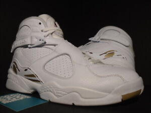 sports shoes 7fa0f b8740 Details about NIKE AIR JORDAN VIII 8 RETRO OVO OCTOBER'S VERY OWN DRAKE  WHITE BLUR GOLD 8.5