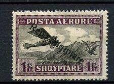 "Albania 1927 SG#208b 1f Air Optd Upright ""R"" Variety MH #A30875"