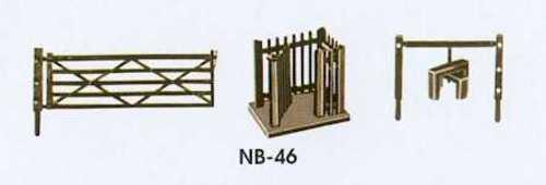 Field gates N gauge Peco NB-46 Free Post F1 stiles and wicket gates