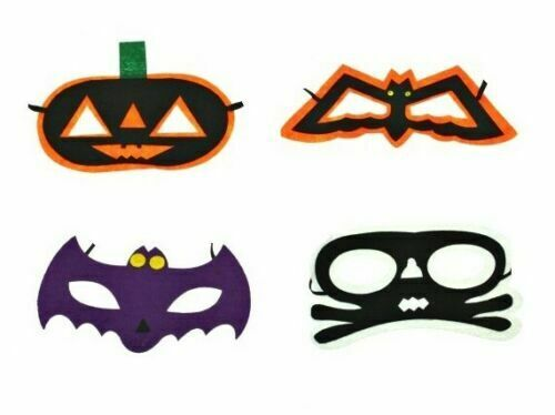 HALLOWEEN FELT MASKS Kids Boys Girls Scary Mask Fancy Dress Costume Accessory UK