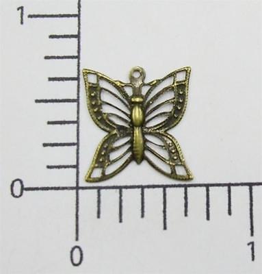 Horseshoe Charm Jewelry Finding Brass Oxidized 39343-4 Pc