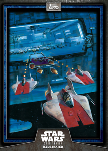 Topps Star Wars Card Trader Illustrated Series 6 Blue A-Wing Squadron CTI