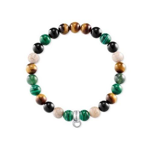 Thomas Sabo CX0217M Charm Bracelet Imi Malachite Size M 16.5cm RRP $49