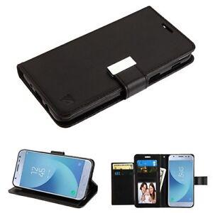 For-LG-Stylo-4-Card-Slots-Fold-Leather-Wallet-Flip-Phone-Case-Cover-Pouch-BLACK