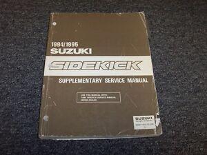 1994 1995 suzuki sidekick suv shop service repair manual supplement rh ebay com 1995 Suzuki Sidekick 4x4 Owners Manual 1995 Suzuki Sidekick