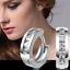 Crystal Charm Women 925 Silver Plated Rhinestone Ear Hoop Clip Earring Jewelry