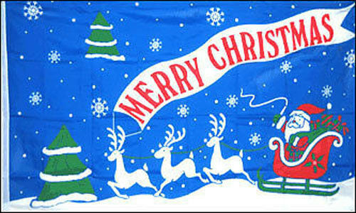 Happy New Year Christmas Banner 3/'x2/' Flag