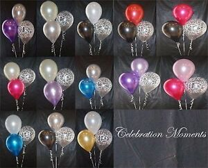 Engagement-Wedding-Helium-Balloon-DIY-Decoration-Clusters-10-Kit-Weights-Ribbon