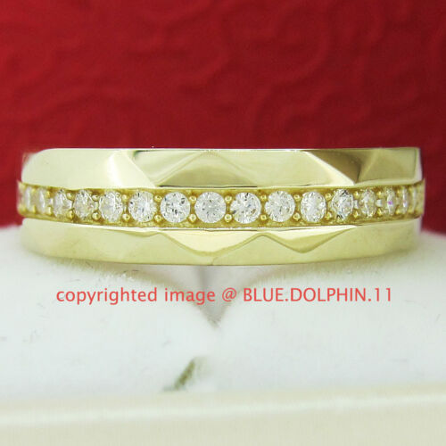 1 of 1 - Genuine Solid 9ct Yellow Gold Engagement Wedding Bands Rings Simulated Diamonds