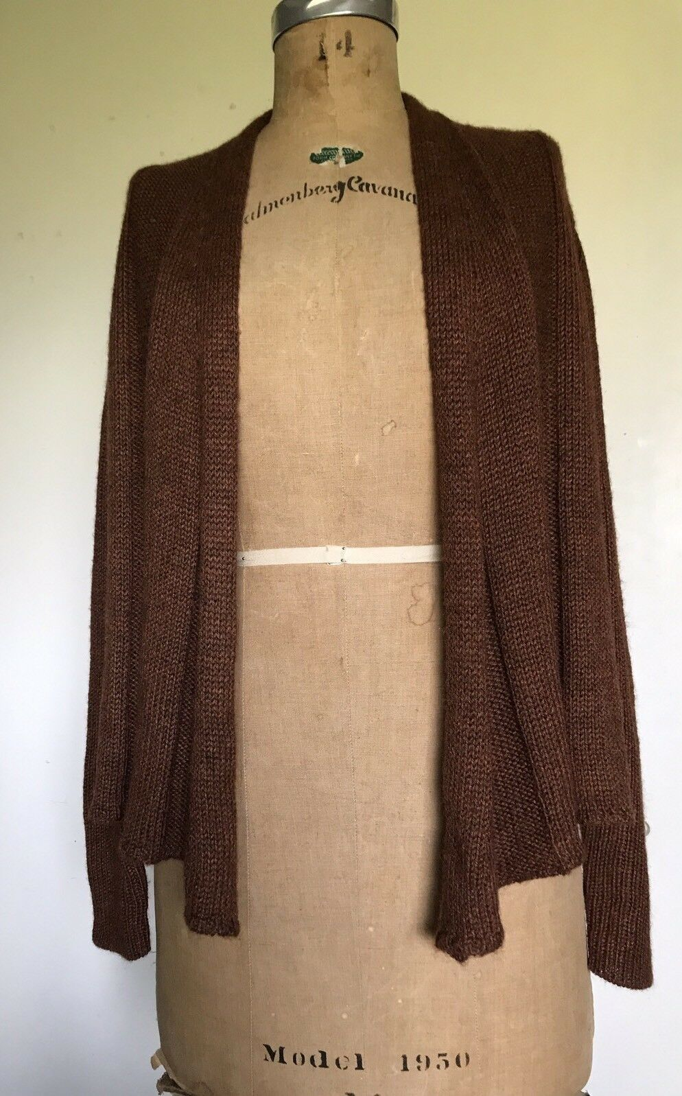 Eileen Fisher S Alpaca Silk MUSED Draped Open Front Cardigan Sweater SIENNA
