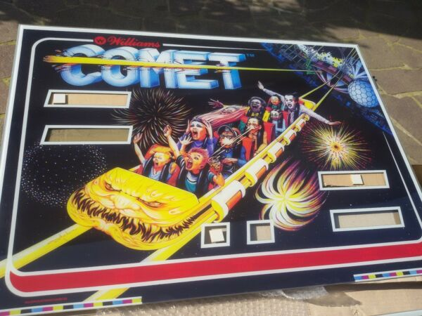 "Dinamico Flipper Backglass "" Comet "" Williams Pinball Backglass Reproduction"