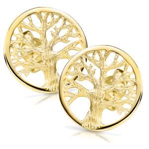 Das Bild wird geladen MATERIA-Rosegold-Ohrstecker-Lebensbaum-rund-925-Silber -Ohrringe- 14b845a630