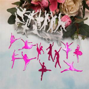 Stanzschablone-Tanzen-Dame-Weihnachten-Geburtstag-Hochzeit-Karte-Album-Einladung