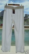 BNWT BILLABONG LADIES BAHAMA RELAXED FIT BEACH PANTS (8) WHITE RRP $65.99