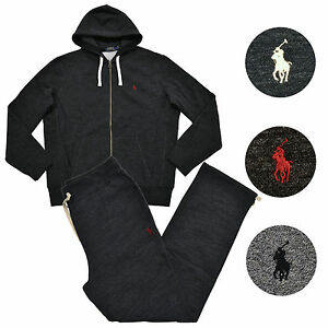 23967e43636d Polo Ralph Lauren Mens Sweat Suit Athletic Sweats Zip Hoodie And ...