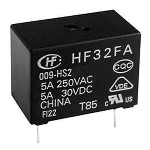 10 x 12V Subminiatur PCB Leistungsrelais 5A SPDT HF32