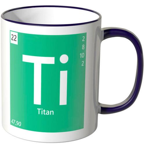 "Farben Geschenk Chemie Physik Titan/"" ver WANDKINGS Tasse Periodensystem /""Ti"
