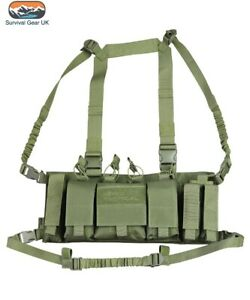 OLIVE-GREEN-TACTICAL-TROJAN-CHEST-RIG-UTILITY-VEST-AIRSOFT-ARMY-CAMO