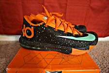 22022 Nike KD VI Texas Black/Green Glow/Urban Orange 599424 002 2014 10