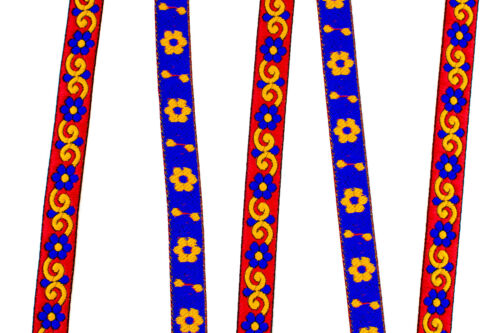 """02 CM 10 Yards Jacquard Trim Roll 0.78/"""" Wide Border Ribbon Sew Embroidered T272"""