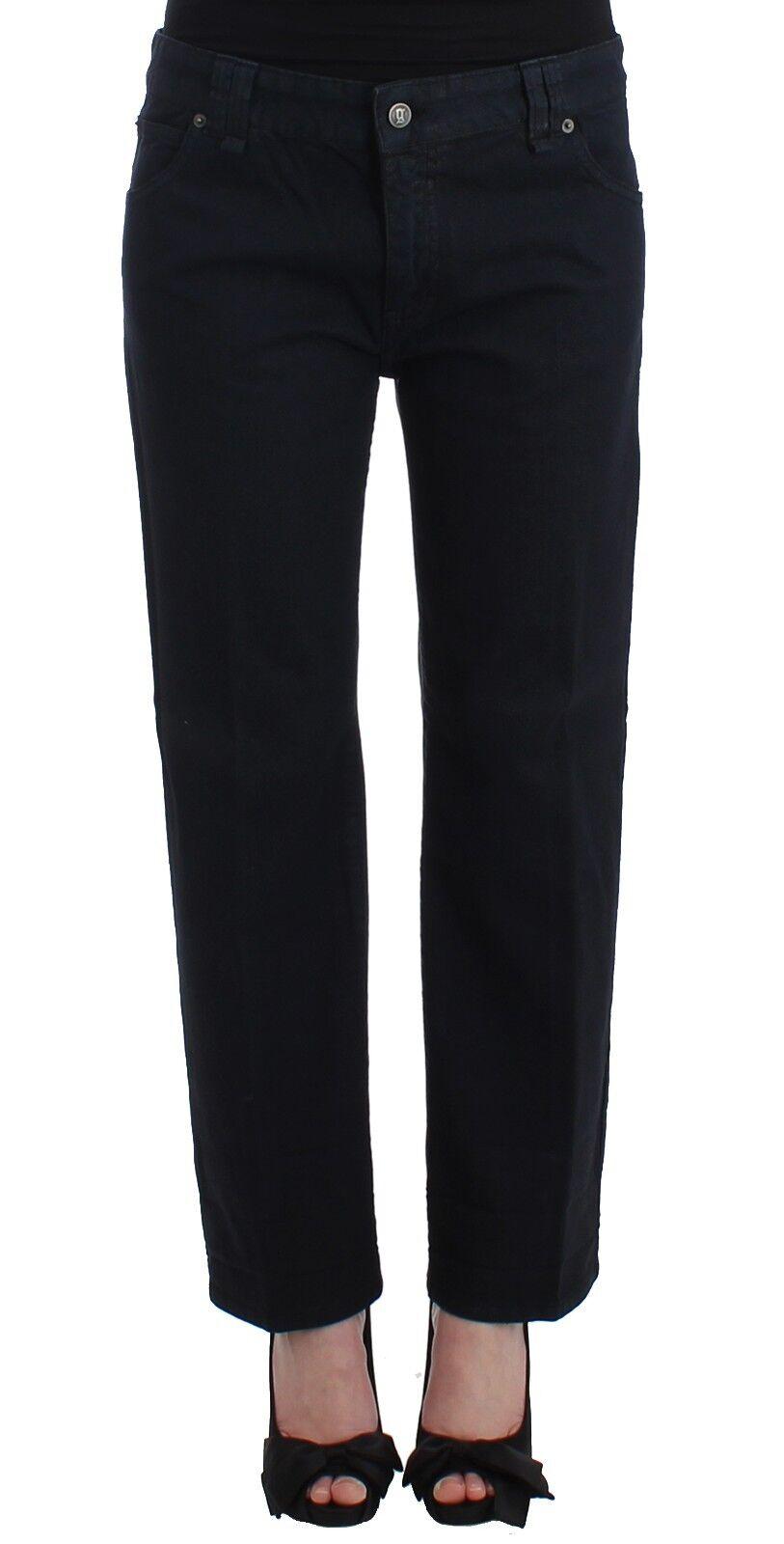 NEW  300 JOHN GALLIANO Pants bluee Cropped Wide Leg Jeans Cargo Loose Fit W32
