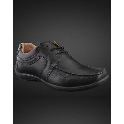 WOODLAND ORIGINAL MENS 592108 BLACK ADVENTURE CASUAL LACED FLAT SHOES SALE