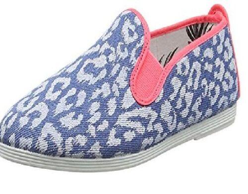 Ladies Flossy Benissa Denim Blue Espadrilles Pumps Slip-on Shoes