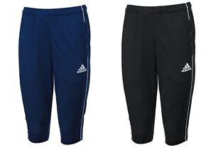 Details about Adidas Men Core 18 Training Pants 3/4 Black Blue Soccer Football Pant CE9032