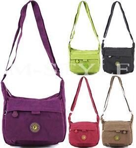 Ladies Light Weight Cross Body Messenger Bag Women Shoulder Tote Satchel Handbag