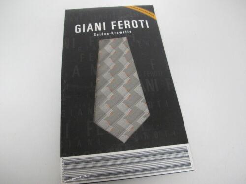 Seiden-Krawatte Grau Dezent Teflon Beschichtet Giani Feroti Neu!