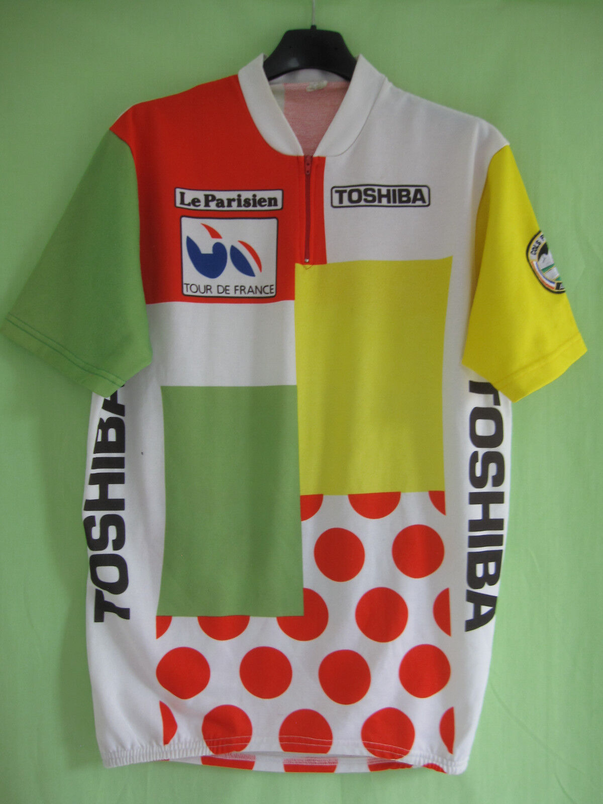Maillot cycliste classeHommest combiné tour de France TOSHIBA vintage jersey - L
