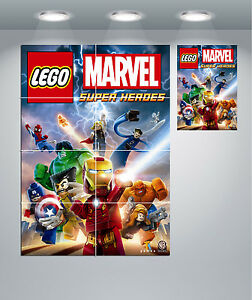 LEGO Characters Marvel Personalised Photo Poster Print ONLY Wall Art Size A4