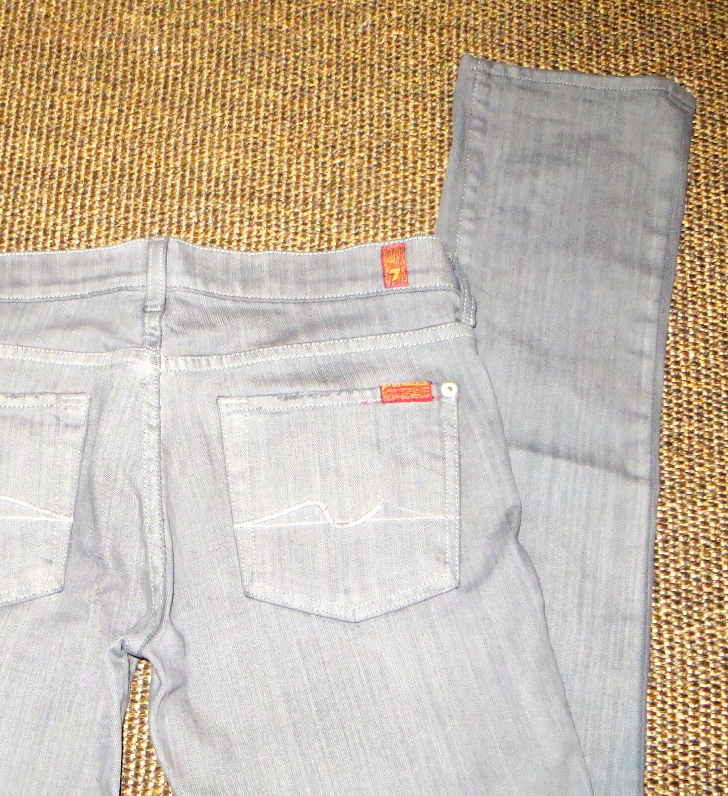 7 FOR ALL MANKIND SKINNY GREY JEANS W28 L34 NET A PORTER