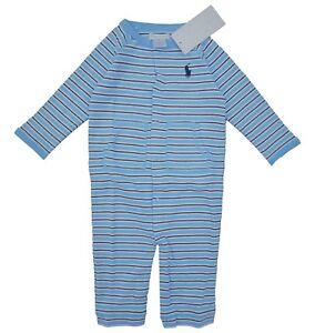 75cm RALPH LAUREN baby boys BABYGROW 6//9M Blue BNWT
