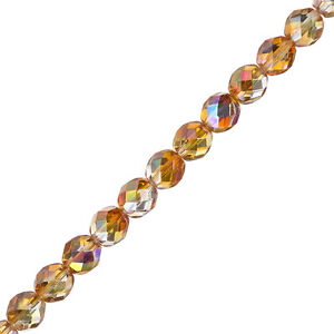 8mm-Fire-Polish-Beads-Czech-Crystal-Orange-Rainbow-6-034-Strand-Pack-of-20-G107-2