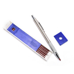 1Set-3-0mm-Red-Lead-Holders-Automatic-Mechanical-Pencil-6-Leads-Refil-QA